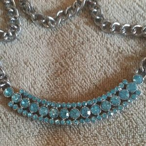 Juicy Couture baby blue bling necklace
